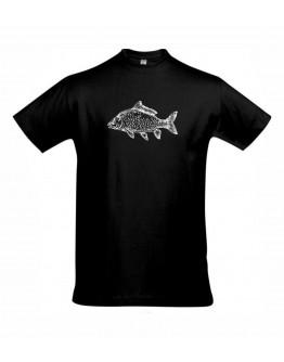 Juodi marškinėliai KARPIS